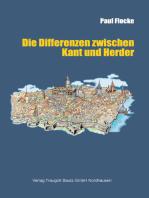 Die Differenzen zwischen Kant und Herder