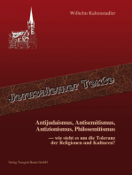 Antijudaismus, Antisemitismus, Antizionismus, Philosemitismus -