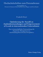 Optimierung der Anzahl an Auslandsentsendungen und Empowerment of Locals in internationalen Unternehmen