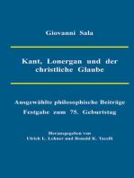 Kant, Lonergan und der christliche Glaube