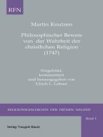 Philosophischer Beweis von der Wahrheit der christlichen Religion (1747)