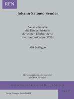 Neue Versuche die Kirchenhistorie der ersten Jahrhunderte mehr aufzuklären (1788)