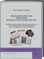 RELIGIÖSE SPRACHE ZWISCHEN BAROCK UND AUFKLÄRUNG