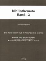 Die Zeitschrift für Physikalische Chemie