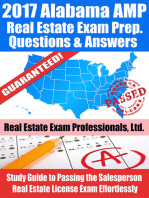 2017 Alabama AMP Real Estate Exam Prep Questions and Answers