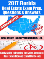 2017 Florida Real Estate Exam Prep Questions, Answers & Explanations