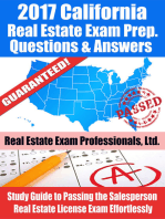 2017 California Real Estate Exam Prep Questions, Answers & Explanations