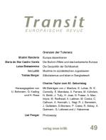 Transit 49. Europäische Revue