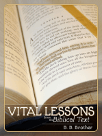 Vital Lessons From The Biblical Text (English & Chinese)