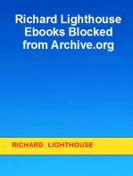 Richard Lighthouse Ebooks Blocked from Archive.org