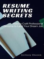 Resume Writing Secrets