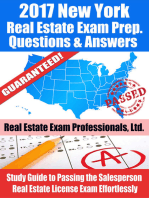 2017 New York Real Estate Exam Prep Questions, Answers & Explanations