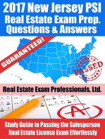 2017 New Jersey PSI Real Estate Exam Prep Questions, Answers & Explanations