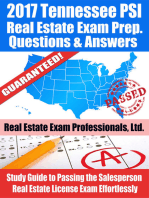 2017 Tennessee PSI Real Estate Exam Prep Questions, Answers & Explanations