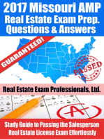 2017 Missouri AMP Real Estate Exam Prep Questions, Answers & Explanations