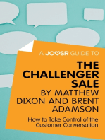 A Joosr Guide to... The Challenger Sale by Matthew Dixon and Brent Adamson
