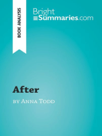 After by Anna Todd (Book Analysis)