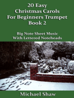20 Easy Christmas Carols For Beginners Trumpet: Book 2
