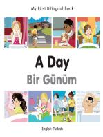 My First Bilingual Book–A Day (English–Turkish)