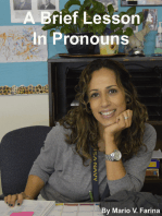 A Brief Lesson In Pronouns