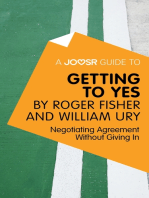 A Joosr Guide to... Getting to Yes by Roger Fisher and William Ury