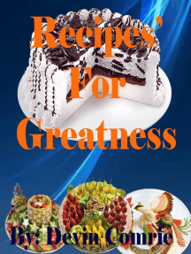 Recipe for Greatness