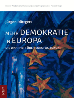 Mehr Demokratie in Europa