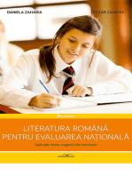 Literatura română pentru Evaluarea Națională. Aplicații, teste, sugestii de rezolvare