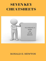 SEVEN KEY CHEATSHEETS TO CREATE A MOBI OR EPUB EBOOK