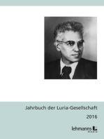 Jahrbuch der Luria-Gesellschaft 2016
