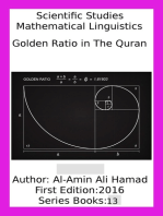 Golden Ratio in the Quran