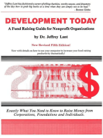 Development Today: A Fund Raising Guide For Non-profit Organizations