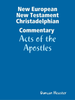 New European New Testament Christadelphian Commentary – Acts of the Apostles