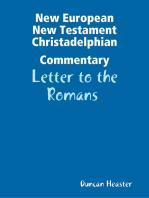 New European New Testament Christadelphian Commentary