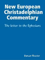 New European Christadelphian Commentary – The letter to the Ephesians