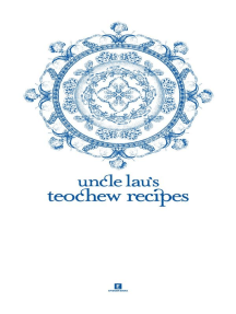 Uncle Lau's Teochew Recipes: Heritage Cookbook, #3