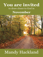 You Are Invited to Draw Closer to God in November