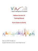 Tableau Training Manual Version 10.0 Basic
