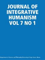 JOURNAL OF INTEGRATIVE HUMANISM VOL 7 NO 1