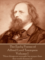 The Early Poems of Alfred Lord Tennyson - Volume I