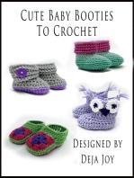 Cute Baby Booties To Crochet