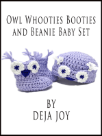 Owl Whooties Booties and Beanie Baby Set