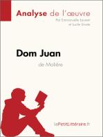 Dom Juan de Molière (Analyse de l'oeuvre)