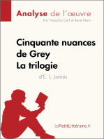 Cinquante nuances de Grey d'E. L. James - La trilogie (Analyse de l'oeuvre)