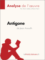 Antigone de Jean Anouilh (Analyse de l'oeuvre)
