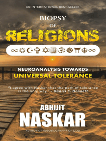 Biopsy of Religions: Neuroanalysis towards Universal Tolerance