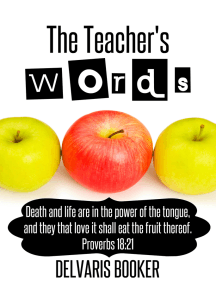 The Teacher's Words