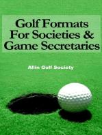 Golf Formats For Societies & Game Secretaries