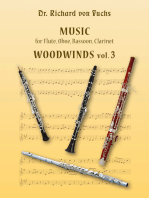 Music for Flute, Oboe, Bassoon, Clarinet Woodwinds vol. 3