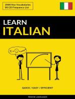 Learn Italian: Quick / Easy / Efficient: 2000 Key Vocabularies